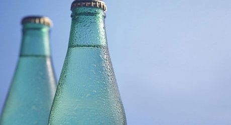 Couple of bottles with carbonated water